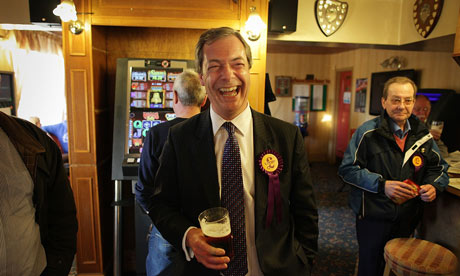 Nigel Farage On The UKIP Campaign Trail