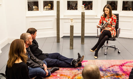Elizabeth Day Reading at the Simon Garfield Gallery in Mayfair.