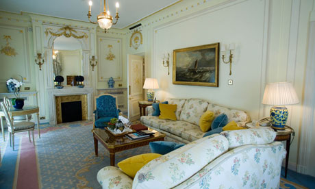 A suite at the Ritz hotel, London