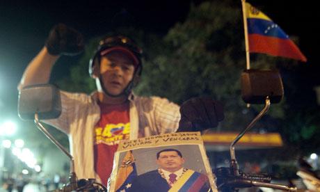 A Chávez supporter