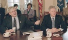 Newt Gringrich and Bill Clinton during the 1995 shutdown