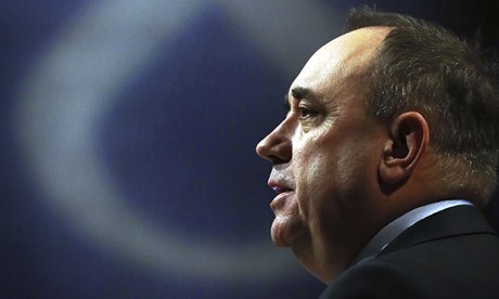 Party leader Alex Salmond delivers his address to the Scottish National Party conference in Perth.
