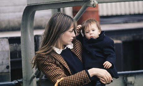 Jane Birkin and Charlotte Gainsbourg, 1971.