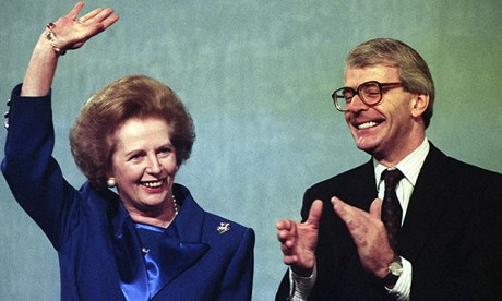 Thatcher and Major 1991
