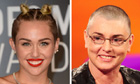 Miley Cyrus and Sinéad O'Connor