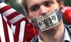An Occupy Wall Street demonstrator … the group has put its money wh