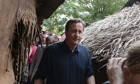David Cameron at a welfare centre in Jaffna
