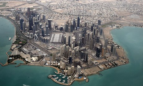 Aerial view of Qatar