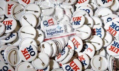 Scottish Referendum 'Better Together' badges