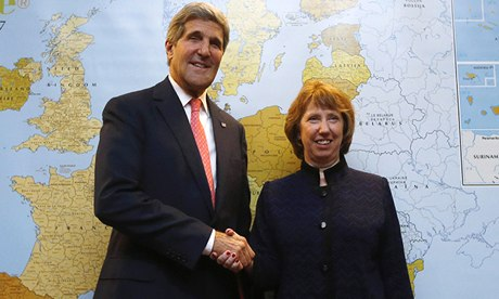 Catherine Ashton with US Secretary of State John Kerry