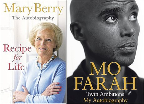 Mary Berry and Mo Farah books