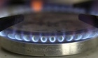 A gas ring burning on a cooker