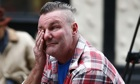 Paul Watt, a regular at the Clutha pub, weeps at the scene.