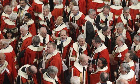 Peers in the Hoiuse of Lords