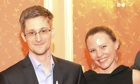 Edward Snowden and Sarah Harrison