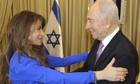 Paula Abdul meets Israeli president Shimon Peres
