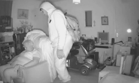 Burglar caught on camera during pensioner house raid...