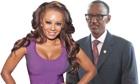 Mel B and President Kagame