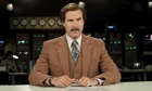 Anchorman 2: The Legend Continues – Will Ferrell as Ron Burgundy, reading the news