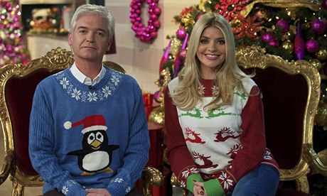 Phillip Schofield and Holly Willoughby in Christmas jumpers