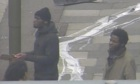 CCTV footage shows Michael Adebolajo (left) with Michael Adebowale in Woolwich on 22 May.
