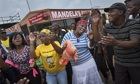 People in Soweto celebrating Nelson Mandela's life