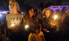 Mourners outside Nelson Mandela's home in Johannesburg, South Africa.