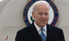 US Vice President Joe Biden gets out his