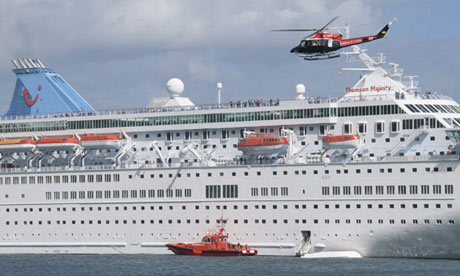 Thomson Majesty, at port in the Canary Islands.