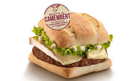 The McCamembert burger from McDonald's.