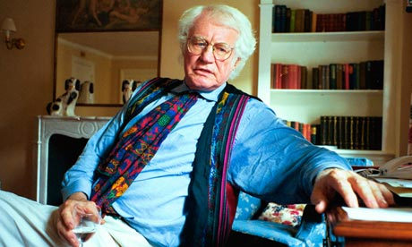 Robert Bly, poet, his office