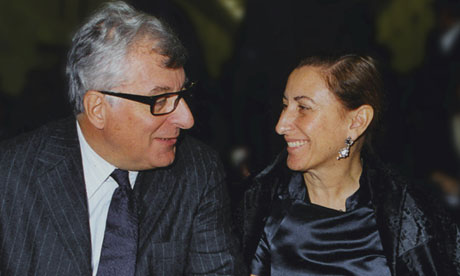 Patrizio Bertelli and Muccia Prada