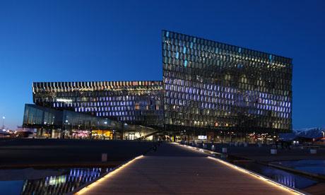 The Harpa concert hall in Reykjavik