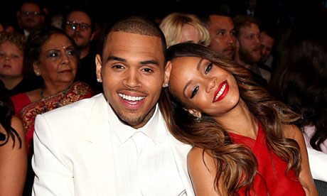 Chris Brown and Rihanna (at the Grammys).