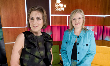 Kirsty Wark and Martha Kearney on the Review Show set.