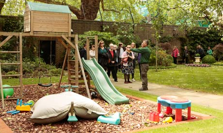 Downing Street garden play area