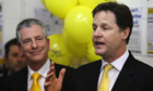 Nick Clegg addresses party workers in Eastleigh