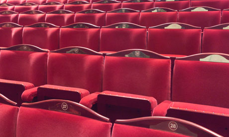 Theatre seats at the London Coliseum