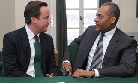 David Cameron with Adam Afriyie, 2010