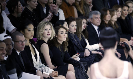 Front-row style at a couture spring-summer 2013 show