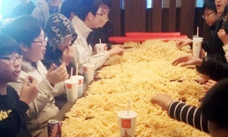 A South Korean potato party.