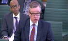 Michael Gove appears before the Commons education select committee.