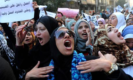 Egypt's women protest against violence