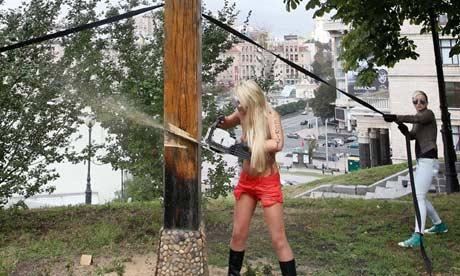 Femen activist Inna Shevchenko