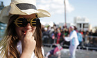 A Cypriot girl wearing euro sunglasses
