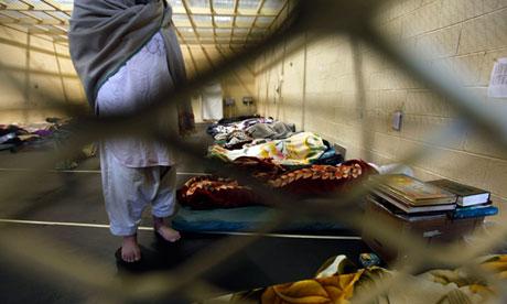 An Afghan detainee at Parwan