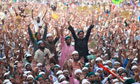 Activists at a rally in Bangladesh last week &hellip; 