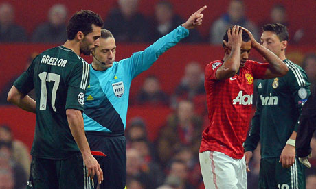 Manchester United Real Madrid ref Cuneyt Cakir tells AS: Nanis red was correct