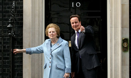 David Cameron Margaret Thatcher Downing Street