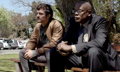Orlando Bloom and Forest Whitaker in a still from the film Zulu